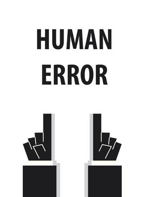 HUMAN ERROR typography vector illustration